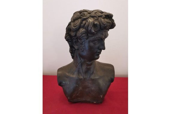 Late 19th century Renaissance bust of a young David with a lovely patination