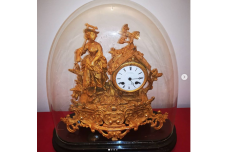 Napoleon 3rd 1860s French Ormolu Working Clock & Dome.