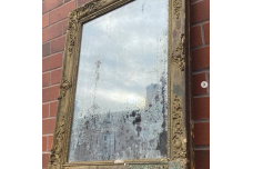 Early  19th Century French  Foxed  Mirror